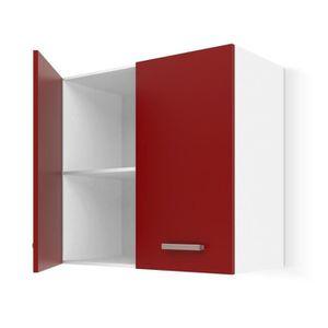 ÉLÉMENTS HAUT ULTRA Meuble haut de cuisine L 60 cm - Rouge mat