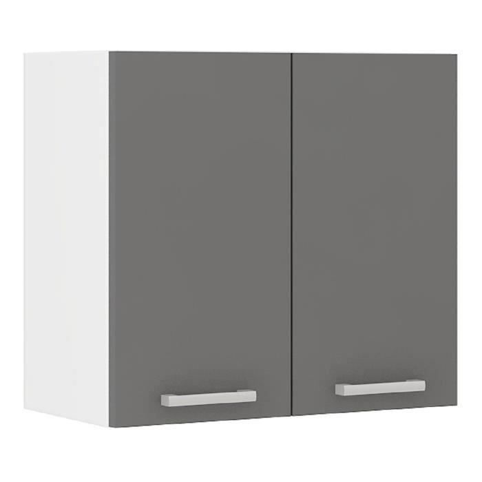 ultra meuble haut de cuisine l 60 cm gris achat vente l ments haut ultra meuble haut. Black Bedroom Furniture Sets. Home Design Ideas