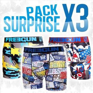 BOXER - SHORTY FREEGUN Boxer Homme PACK SURPRISE X3