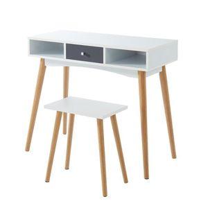 BUREAU  BABETTE Set bureau avec tabouret - 1 tiroir et 2 n