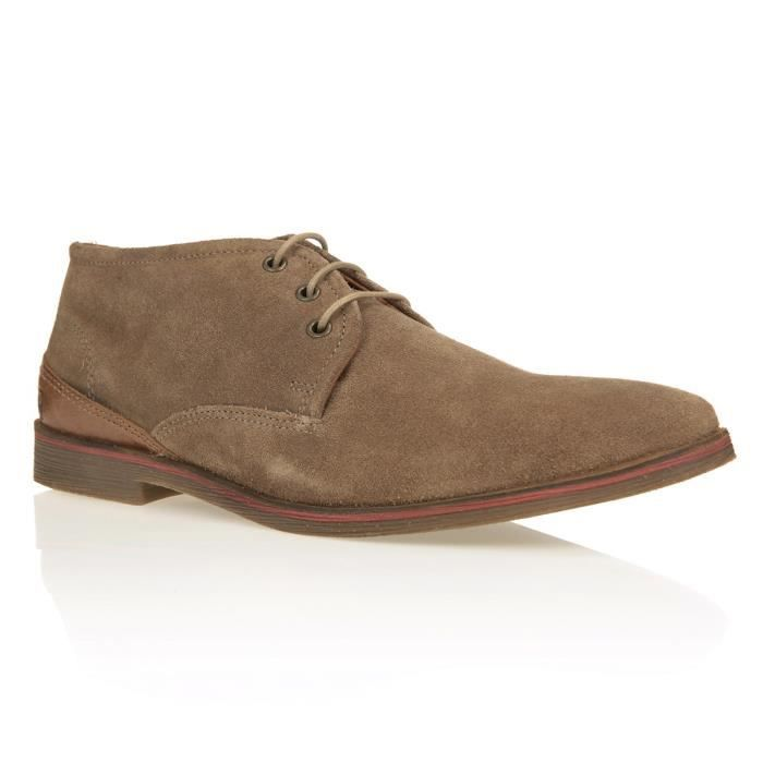 Redskins Bottines Arfi Chaussures Homme Taupe Marron - Chaussures Boot Homme