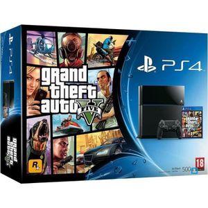CONSOLE PS4 PS4 500 Go Noire + GTA V