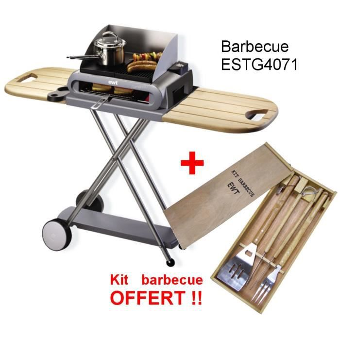 BARBECUE DE TABLE EWT ESTG4071 BARBECUE ELECTRIQUE + KTB001