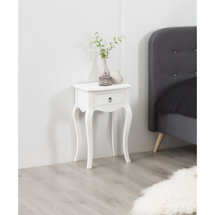 carikko chevet 38 cm laqu blanc achat vente armoire de chambre carikko chevet cdiscount. Black Bedroom Furniture Sets. Home Design Ideas
