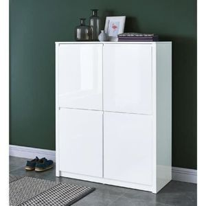 buffet laque blanc achat vente buffet laque blanc pas cher cdiscount. Black Bedroom Furniture Sets. Home Design Ideas