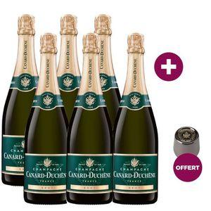 CHAMPAGNE 6 Champagnes Canard-Duchêne Brut ACHETES = 1 bouch
