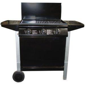 BARBECUE ANDALOUCIA Barbecue à gaz 3 brûleurs sur chariot -