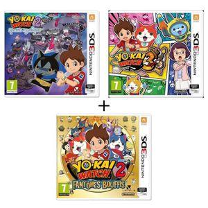 JEU 3DS Yo-Kai Watch 2 Fantômes +  Yo kai Watch 3 3DS + Yo