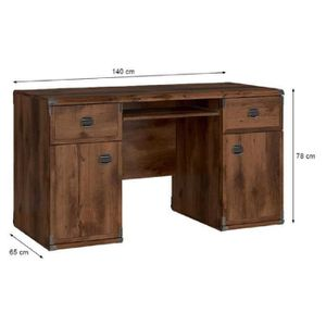 bureau marron achat vente bureau marron pas cher cdiscount. Black Bedroom Furniture Sets. Home Design Ideas