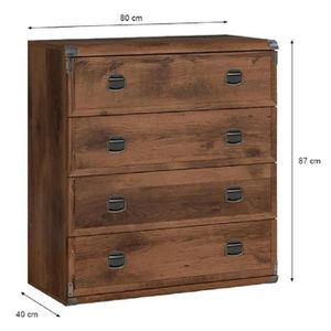 commode achat vente commode pas cher soldes d s le 10 janvier cdiscount. Black Bedroom Furniture Sets. Home Design Ideas
