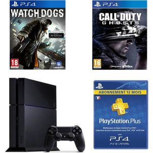 CONSOLE PS4 Pack Console PS4+Call Of Duty+Watch Dogs+Abo 12