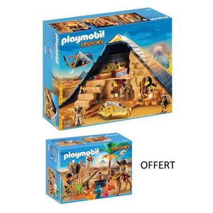 UNIVERS MINIATURE PLAYMOBIL - Pack 5386 Pyramide du Pharaon + 5387 P