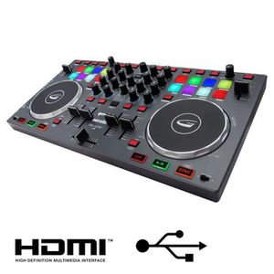 TABLE DE MIXAGE GEMINI SLATE4 Table de mixage 4 voies USB HDMI