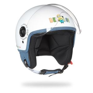 CASQUE MOTO SCOOTER MINIONS Casque Jet Bello Blanc