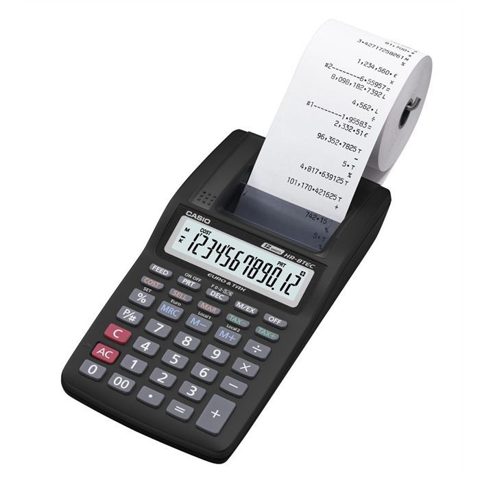 Calculatrice de bureau avec imprimante casio achat for Bureau rouleau