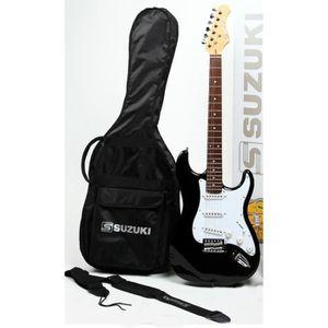 GUITARE SUZUKI Guitare électrique noire type stratocaster