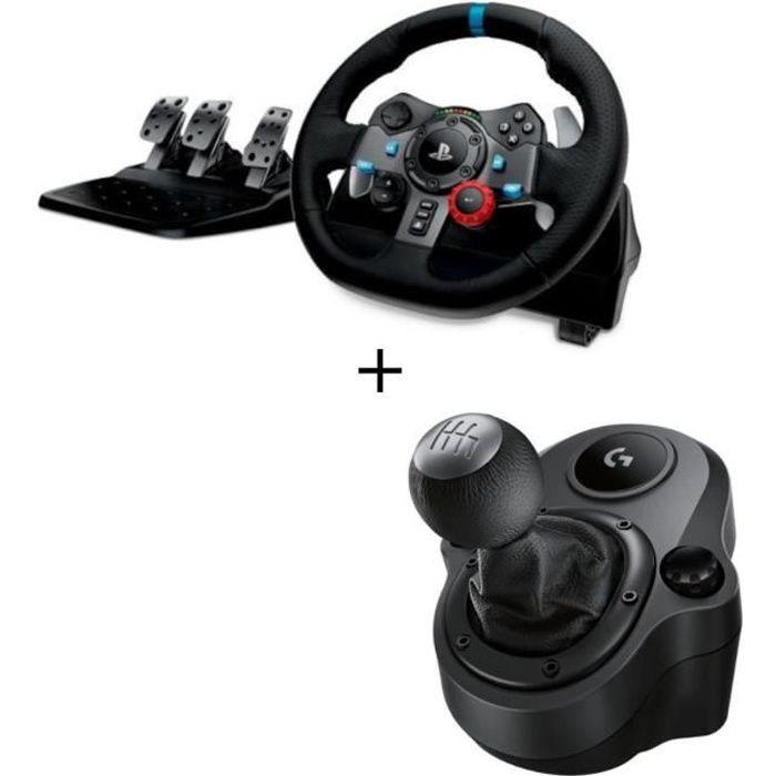 VOLANT PC Logitech Volant G29 + Levier de vitesse Driving Fo