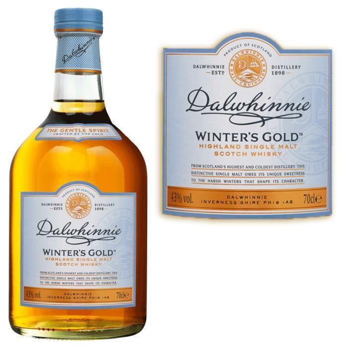 WHISKY BOURBON SCOTCH Dalwhinnie Winter's Gold - Highland Single Malt Wh