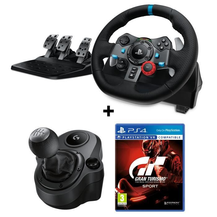 logitech volant de course g29 driving force pour ps4 et pc. Black Bedroom Furniture Sets. Home Design Ideas