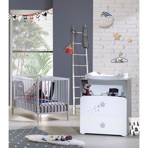CHAMBRE COMPLETE BEBE BABY PRICE New Nao Duo Lit Barreaux 60 X 120 Cm