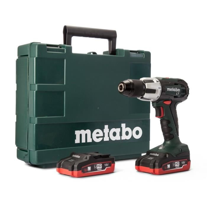 metabo perceuse visseuse percussion 60nm 2x18v 3 1ah li. Black Bedroom Furniture Sets. Home Design Ideas