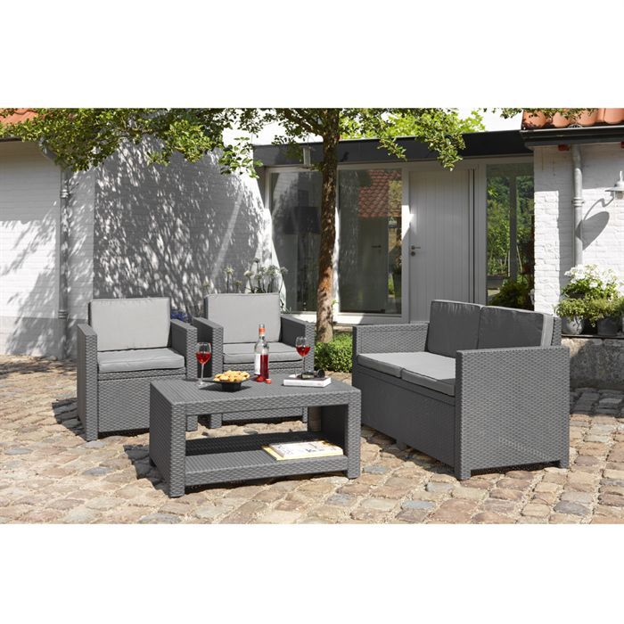 monaco salon jardin aspect rotin tress anthracite achat vente salon de jardin monaco salon. Black Bedroom Furniture Sets. Home Design Ideas
