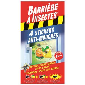 TRAITEMENTS PLANTES BARRIERE A INSECTES Stickers anti-mouches Vitres -
