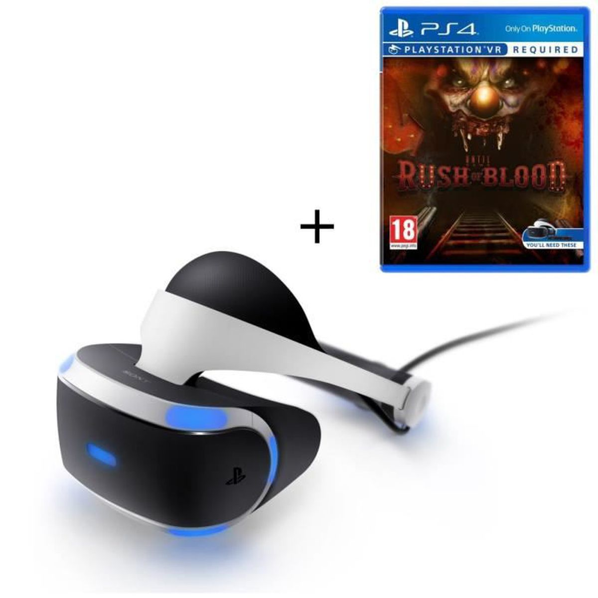 playstation vr until dawn rush of blood vr achat vente casque r alit virtuelle pack. Black Bedroom Furniture Sets. Home Design Ideas