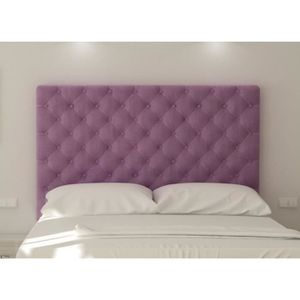 t te de lit capitonn e 180cm tissu violet sogno moncornerdeco. Black Bedroom Furniture Sets. Home Design Ideas