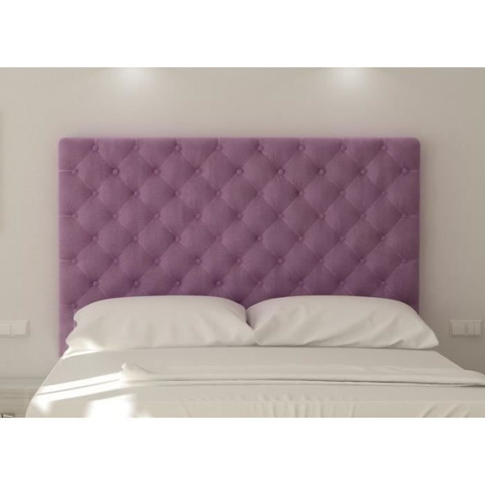 sogno t te de lit capitonn e 180 cm tissu violet achat vente t te de lit sogno t te de lit. Black Bedroom Furniture Sets. Home Design Ideas