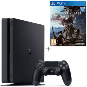 CONSOLE PS4 NOUVEAUTÉ Pack PS4 500 Go + Monster Hunter World Jeu PS4