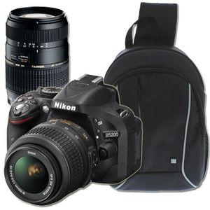 APPAREIL PHOTO RÉFLEX NIKON D5200 + 18-55 mm + 70-300mm + Sac à dos