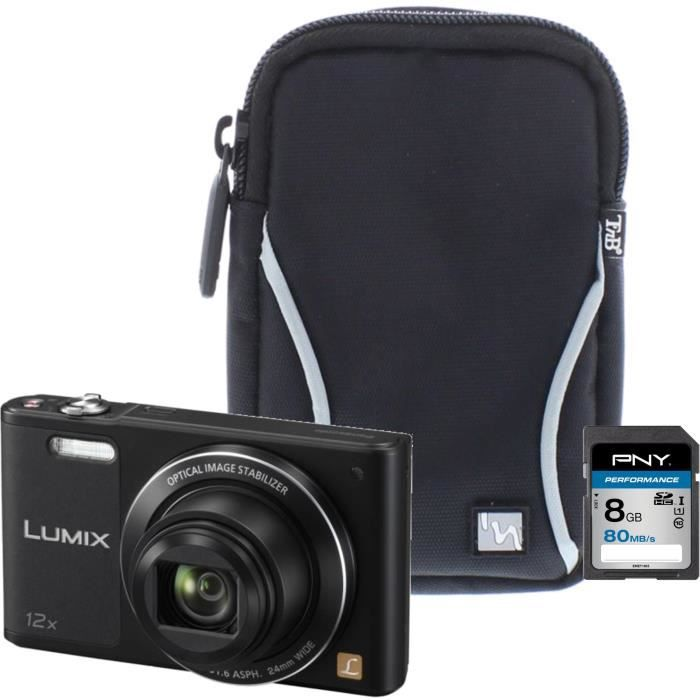Panasonic dmc sz10ef k appareil photo num rique compact for Appareil photo ecran 180