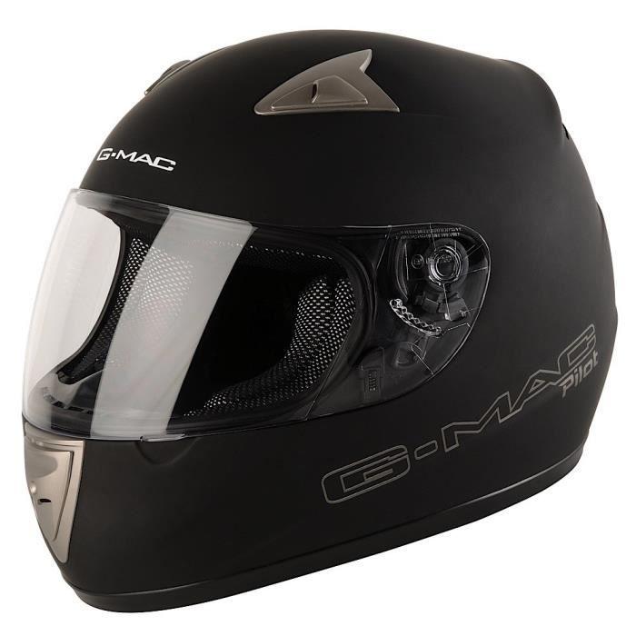 G-MAC Pilot Evo Casque de moto int/égral Noir satin/é