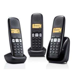 Téléphone fixe Gigaset A250 Trio Téléphone Sans Fil Sans Répondeu