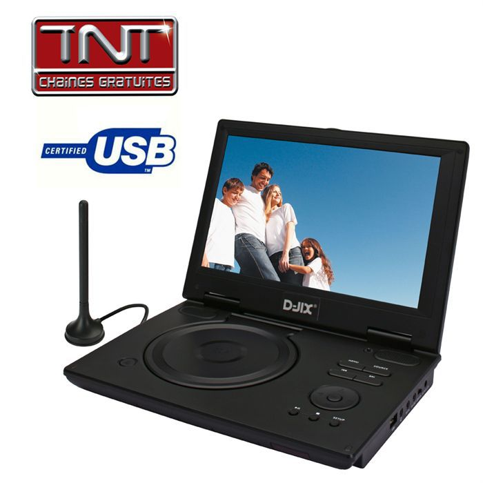d jix pvs 1005 80h tnt lecteur dvd portable prix pas cher cdiscount. Black Bedroom Furniture Sets. Home Design Ideas