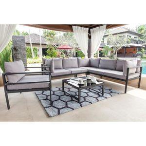 Salon de jardin ensemble table chaise fauteuil