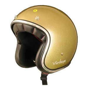 CASQUE MOTO SCOOTER AMX Casque Jet Vintage Or Pailleté