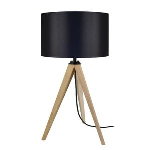 LAMPE A POSER IDUN Lampe à poser en bois naturel - Ø30 x H.56 cm