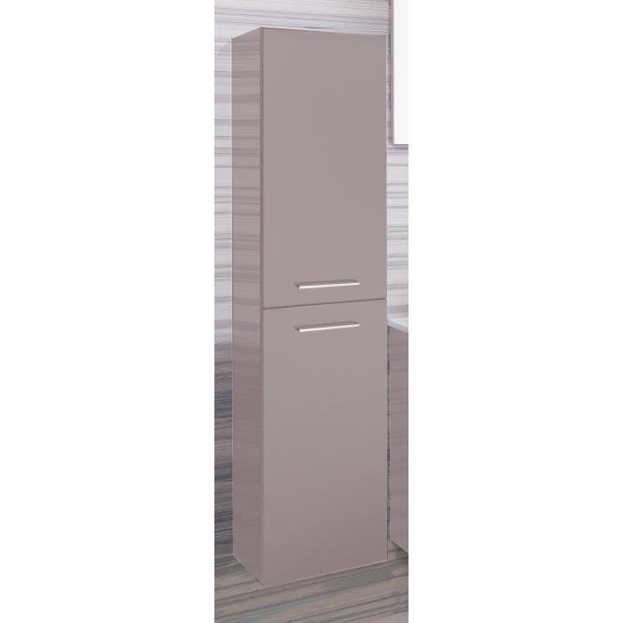 COLONNE - ARMOIRE SDB SHILOH Colonne de salle de bain L 30 cm - Taupe la