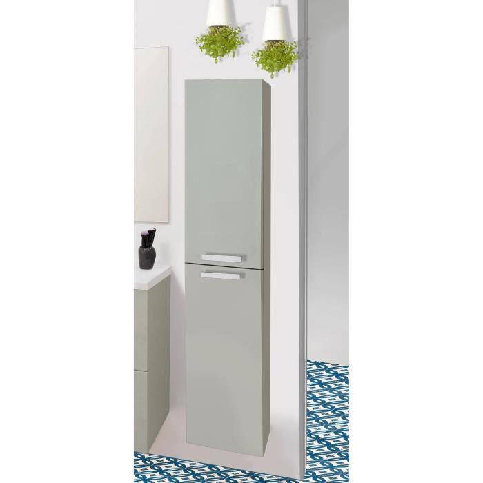 COLONNE - ARMOIRE SDB NUEVO Colonne de salle de bain 30 cm - Laqué taupe