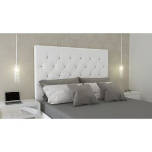 tete de lit capitonne 140 cm achat vente tete de lit capitonne 140 cm pas cher cdiscount. Black Bedroom Furniture Sets. Home Design Ideas