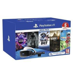 CASQUE RÉALITÉ VIRTUELLE Pack PlayStation 4 PSVR MegaPack 2 - 5 Jeux : VR W