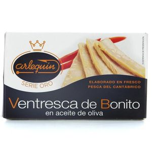 PRODUIT DE SARDINE ARLEQUIN Ventre de thon à l'huile d'olive - 120 g