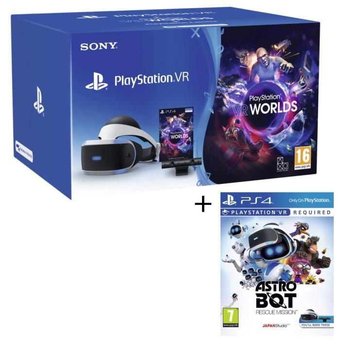 CASQUE RÉALITÉ VIRTUELLE Pack PlayStation VR V2 + PlayStation Caméra + 2 Je