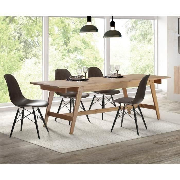 Emejing table laque 8 places contemporary Table extensible 12 personnes