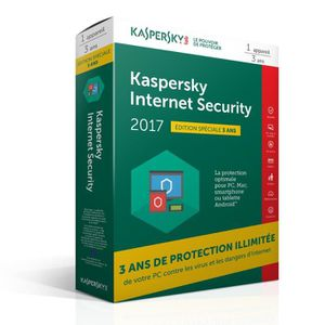 ANTIVIRUS Kaspersky Internet Security 2017 (1 poste / 3 ans)