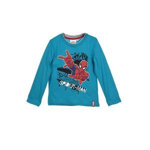 T-SHIRT SPIDERMAN T-shirt - Enfant garçon - Bleu turquoise
