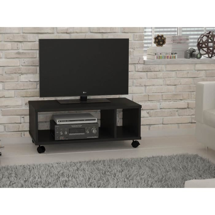 meuble tv hardy meuble tv noir 70 cm. Black Bedroom Furniture Sets. Home Design Ideas