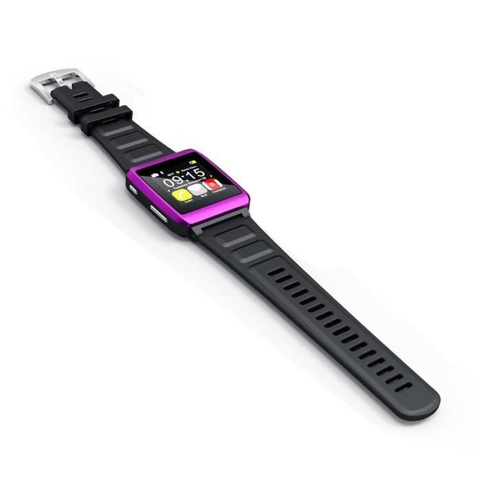 LECTEUR MP3 MPMAN WATCH ME Montre MP3 Bluetooth Violet